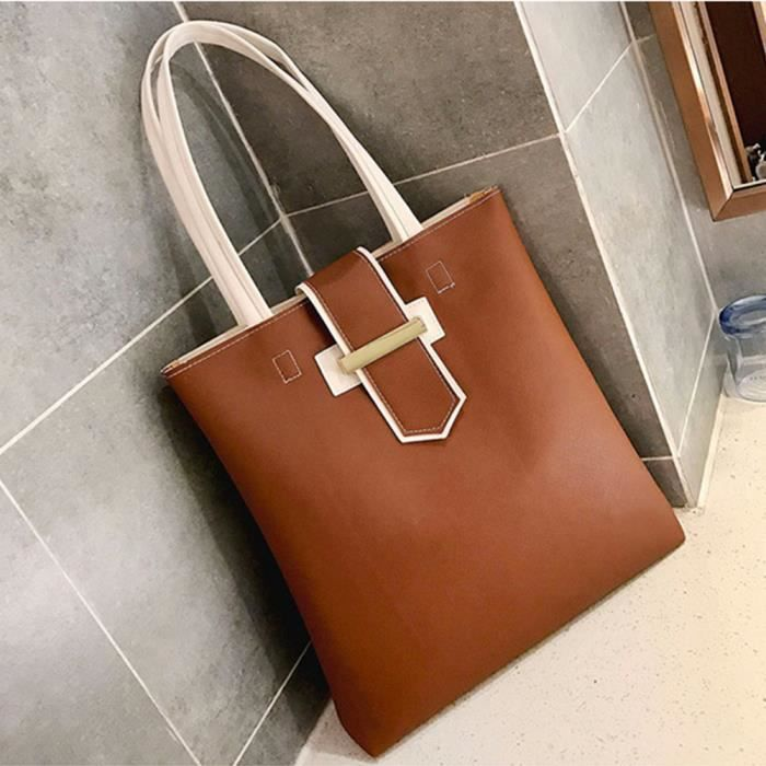 Women's Satchel Large Hasp Bag Qinhig3500 Tote Purse Bw Shoulde Leather Fashion rxqCrI