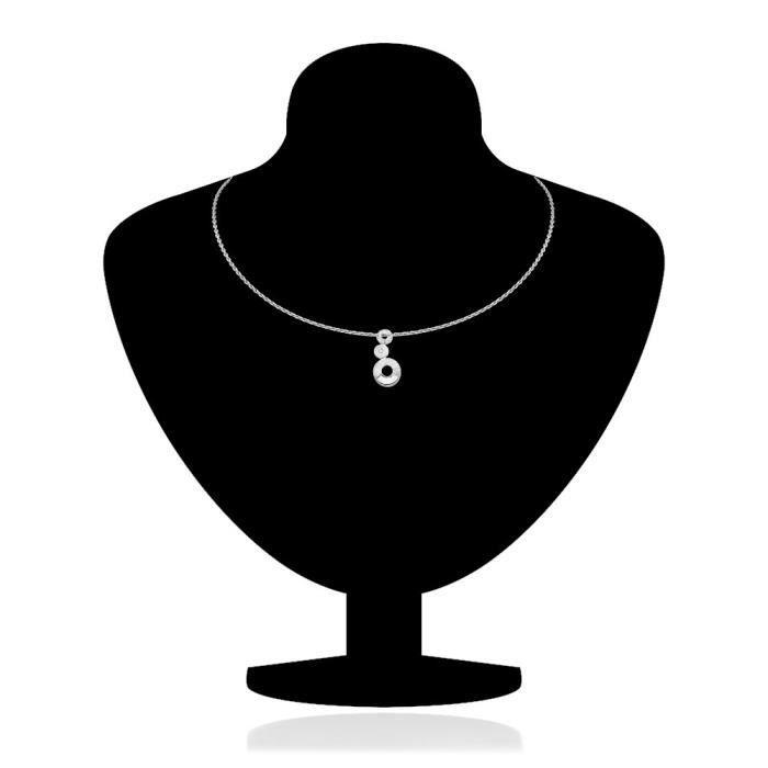 Collection Liane Femmes Blanc rhodié Fait avec Set Swarovski Elets pendentif pour -nl1104086r JH5PD