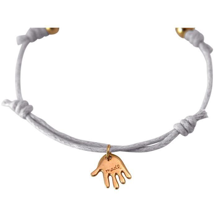 Gemshine - Dames - Bracelet - Gravure - JE VOUS AIME - plaqué or rose - gris clair
