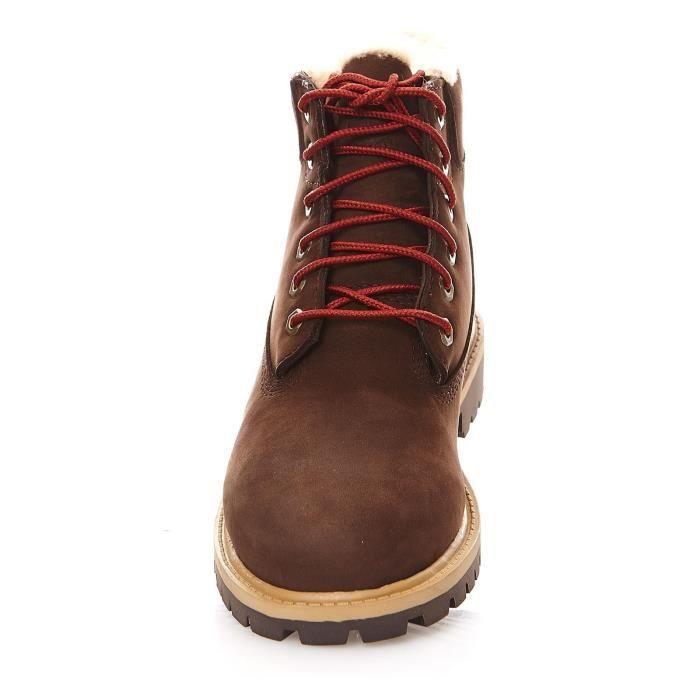 6 In Prm WP Shearling - Boots fourrées en cuir mélangé - rouge