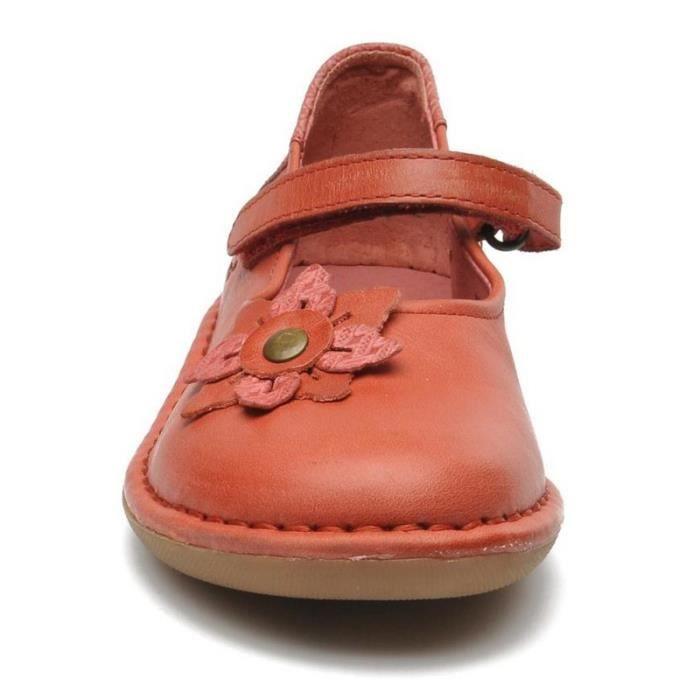 Kickers Babies Fille Rouge (34 - Médium - rouge)