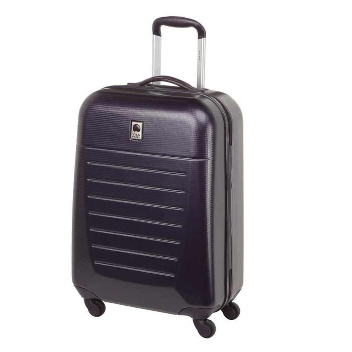 visa delsey valise abs caleo 4 roues 66cm violet violet achat vente valise bagage. Black Bedroom Furniture Sets. Home Design Ideas