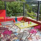 Pims Table de jardin pliante taupe en métal - Taupe - Achat / Vente ...