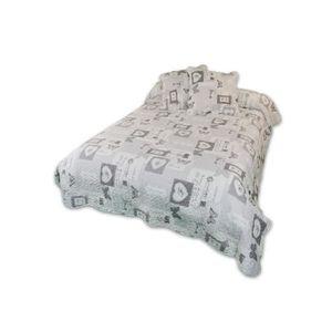 SOLEIL D'OCRE Couvre lit Boutis Philippe 220x240cm avec 2 taies d'oreiller