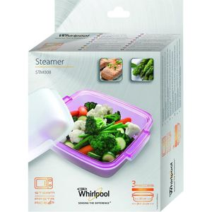 Wpro STM008 Plat vapeur pour micro-ondes Whirlpool avec fonction vapeur. Dim : 24 cm