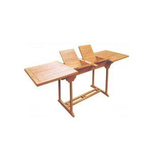 Table de jardin en teck rectangulaire avec double rallonge 12/14 ...