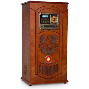 CHAINE HI-FI auna Musicbox Chaîne Hi-fi Jukebox avec Platine vi