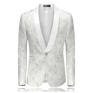 096eae7354bd8 COSTUME - TAILLEUR Hommes Floral Imprimé Blazer Veste Costumes de Scè