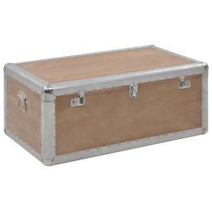 TABLE BASSE Banc Coffre Boîte de rangement Bois de sapin massi