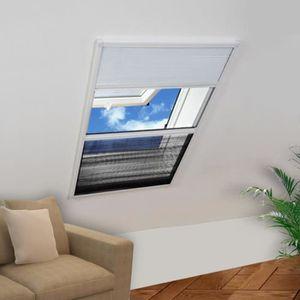 Moustiquaire Pare Soleil Fenêtre De Toit Smart Duo Plissée Alu