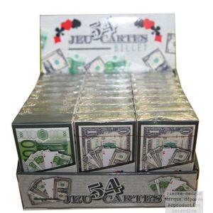 CARTES DE JEU Jeu de 54 Cartes à Jouer Billet €uro ou Dollar$ !