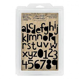 TAMPON DÉCORATIF Set de tampons caoutchouc monté mousse Alphabet mi