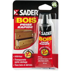 COLLE - PATE FIXATION SADER Colle Bois Prise Rapide - Tube 55ml