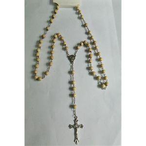 CHAPELET Chapelet en bois et crucifix croix taille petite r