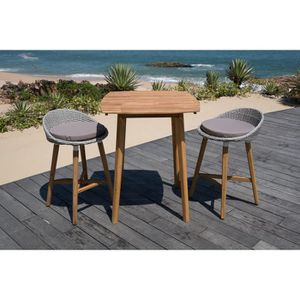 Table Jardin 2 Personnes Resine Tressee Achat Vente