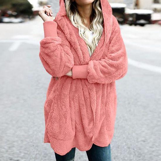 Chaud Gilet Rose Femmes Parka Hiver Dames Manteau Veste Les Outwear qfBST
