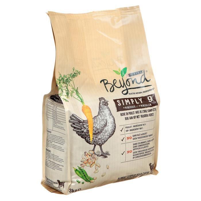 BEYOND Croquettes - Riche en poulet avec de l'orge complète - Pour chiens adultes - 3 kg
