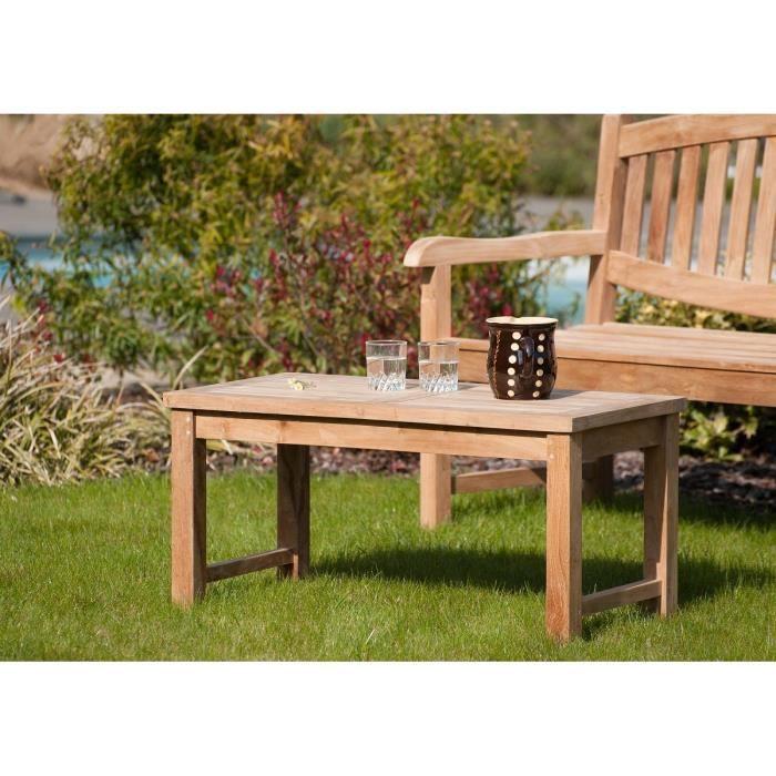 Table basse de jardin en teck - Achat / Vente pas cher