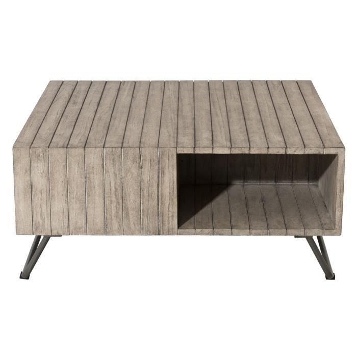 Table basse en teck - 90 x 90 x 40 cm JARDITECK