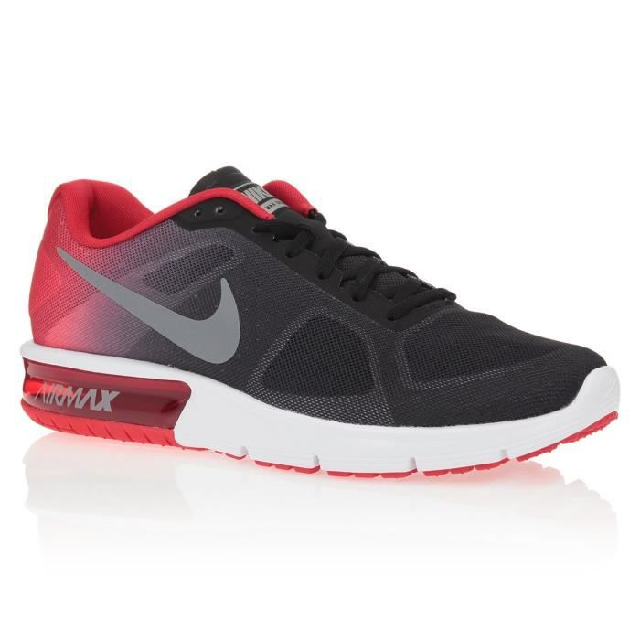 Nike Air Max Sequent Noir-Rouge - Chaussures Baskets basses Homme