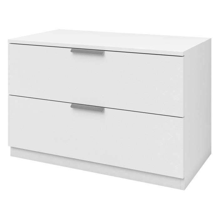 Commode 80cm coloris blanc - Fabrication Européenne - Qualité certifiée - Garantie : 2 ansCOMMODE DE CHAMBRE