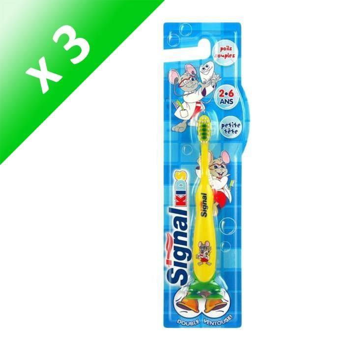 SIGNAL Lot de 3 brosses à dents Croissance - 2 à 6 ans