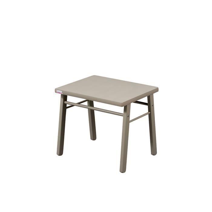 COMBELLE Table enfant laque gris clair