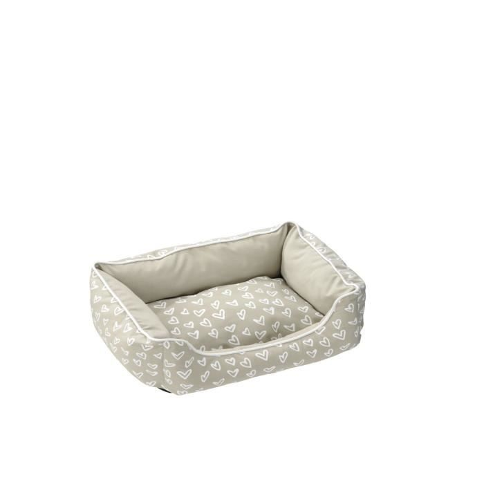 Coussin Lovely Domino-Bed - 110 x 80 x 24cm - Beige / BlancCORBEILLE - PANIER - COUSSIN - HAMAC - LIT