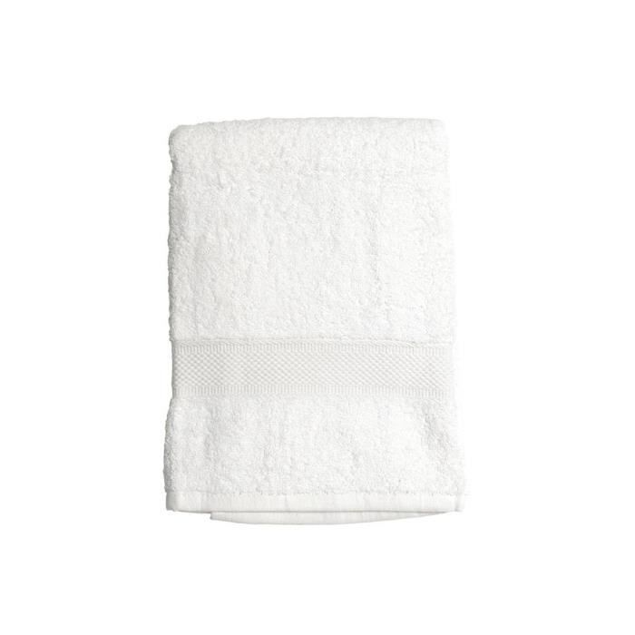 SOLEIL D'OCRE Drap de bain 100% Coton DOUCEUR 70x130 cm - Blanc
