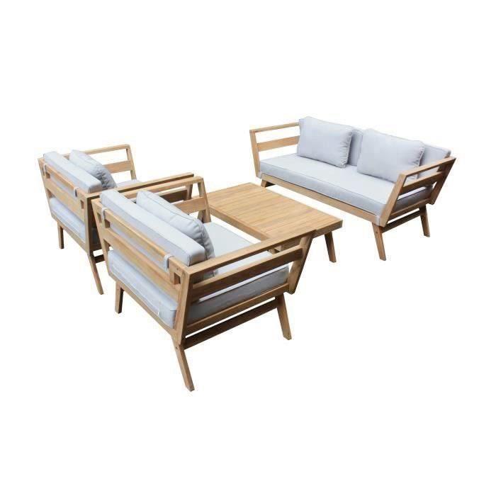 Salon de jardin en bois 8 places - Achat / Vente Salon de jardin en ...