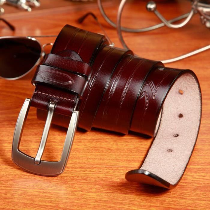 Hommes Métal Boucle cuir ceinture classique vintage Pin Ceintures Boucle -LZP70405143CO 3780 e7c786775da