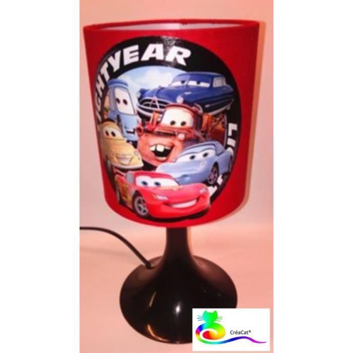 Et Lampe Enfant Cars Noir Creacat Rouge Chevet dBeroCWx