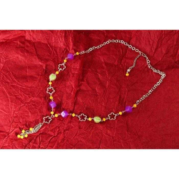 cb9d22c26505c Collier dété fait main Bijou pour jeune fille Accessoire exotique Cadeau  femme