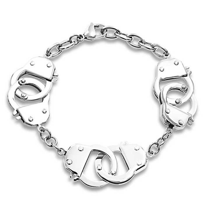 50 Nuances De Gris Inspiré Multiples En Acier Bracelet Menottes 8.5Dans
