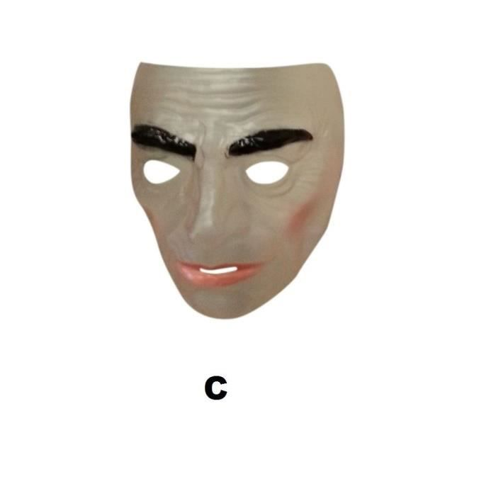 Masque Transparent Homme Non Sourire Non Mustache Pm064c