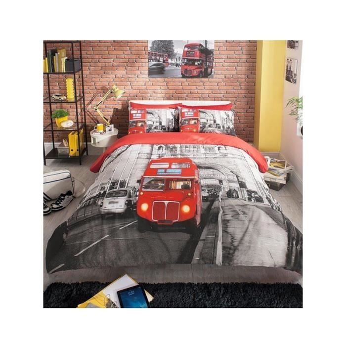 parure de lit london 2 personnes - achat / vente parure de lit