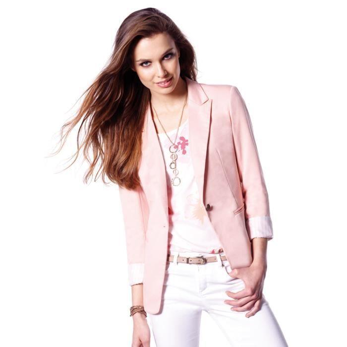 Veste blazer femme rose pas cher
