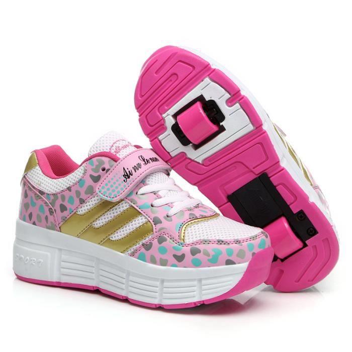Unisexe Enfants Chaussures Roller Avec Double W...