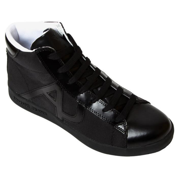 0ecc222ad1f5f BASKET MONTANTE ARMANI JEANS 935566-CC503-00020 (Noir - 40) Noir ...