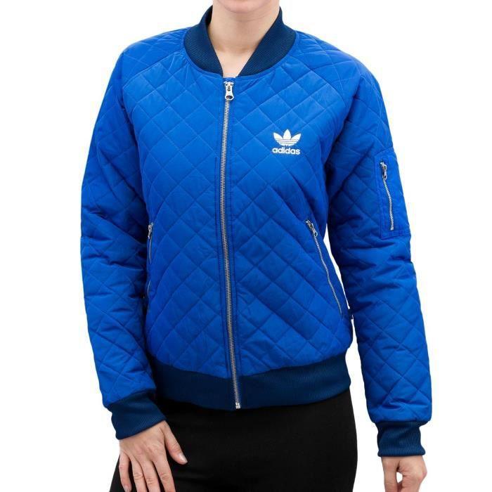 5d4828aed6 Adidas Femme Vestes & Blousons / Veste demi-saison Quilted Bleu Bleu ...