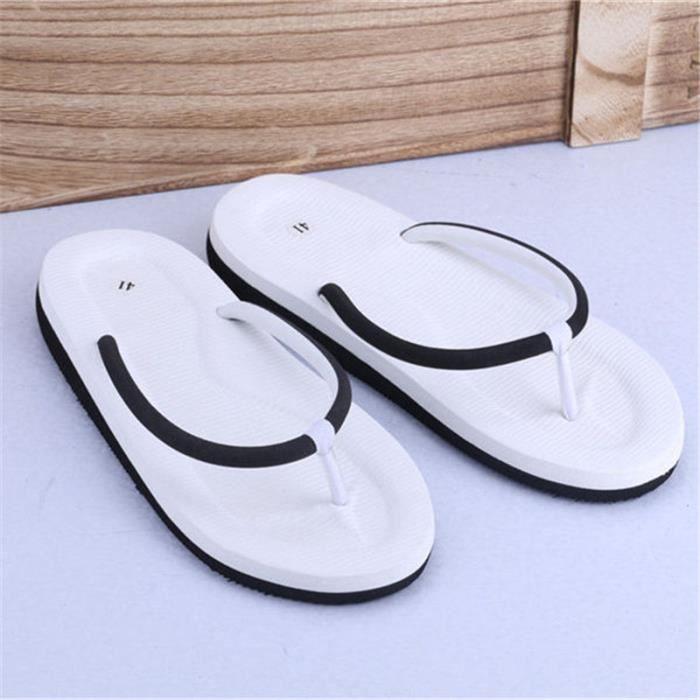 Hommes sandales Summer Beach Tongs chaussons chaussures d'été sandales pour Casual