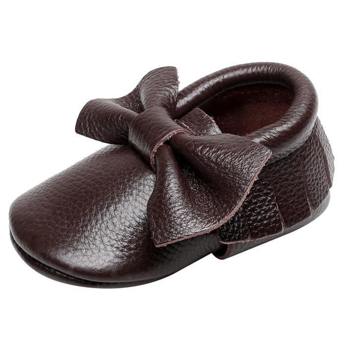 Jamron Bébé Charmant Bowknot Houppe Chaussures Berceaux Enfant Bambin Semelle Molle Prewalker Baskets 0-24 Mois tQAKbsf