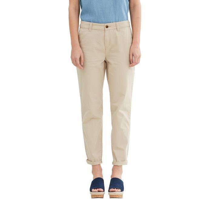 b8d15a0aa978d5 Edc By Esprit Pantalon Femme 1QSC7E Taille-44 Beige Beige - Achat ...