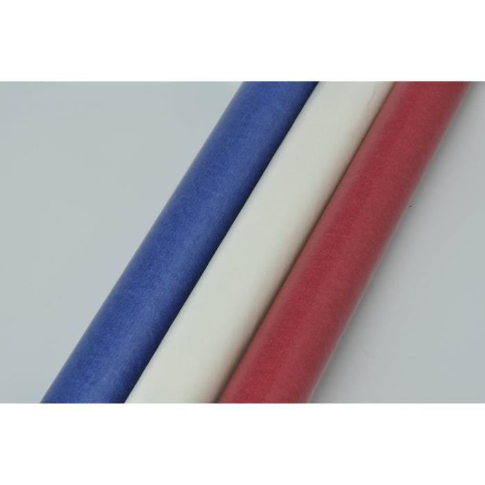 Papier Vitrail Transparent Bleu Blanc Et Rouge X3 Rayher