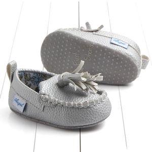 BOTTE Nouveau-né infantile bébé double semelle souple en cuir unique occasionnels appartements chaussures@BleuHM Vq2q41MaTC