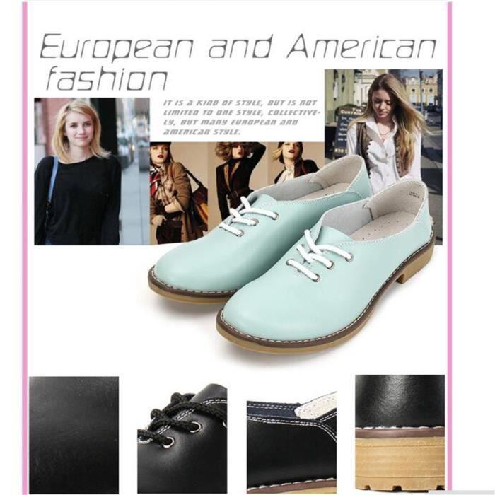 Chaussures en cuir femme Nouvelle Mode Marque De Luxe Poids Léger femmes plates Chaussure cuir Respirant Grande Taille 35-40
