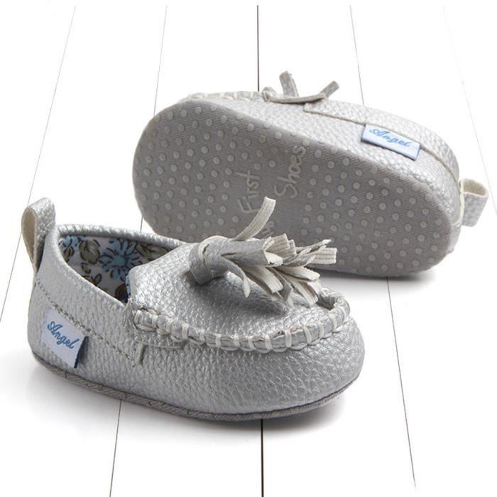 infantile ArgentHM BOTTE bébé double Nouveau né chaussures cuir en unique souple semelle occasionnels appartements qxUgxZwOn