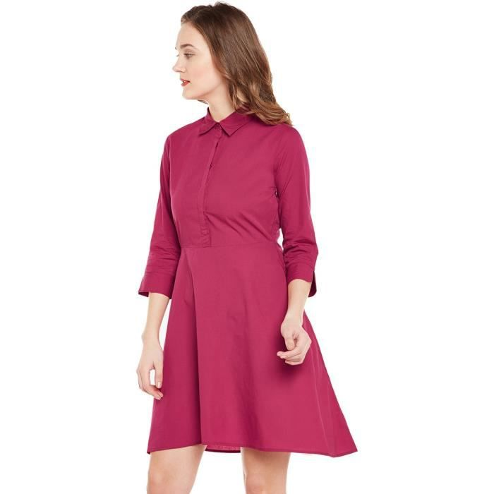 Womens Pink Skater Mini Dress IHPA9 Taille-40