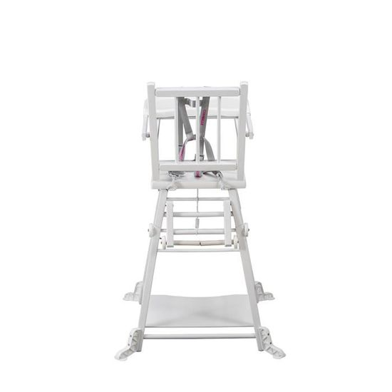 COMBELLE Chaise Haute MARCEL Transformable Barreaux Laque Blanche