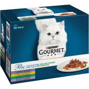 GOURMET PERLE Légumes - Pour chat - 12x85g